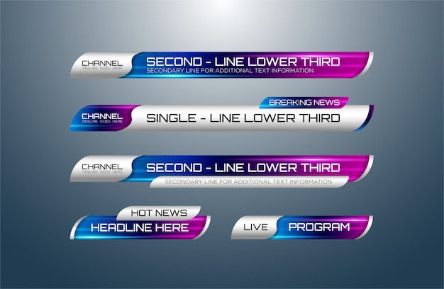 Lower thirds pack