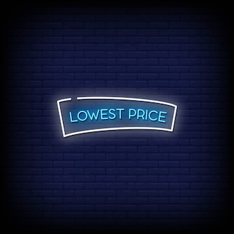 Lowest price neon signs style text