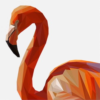 Lowpoly of flamingo