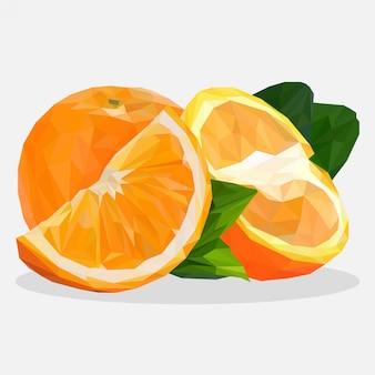 Lowpoly of oranges fruit