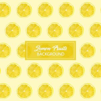 レモンフルーツのシームレスなパターン背景のlowpoly