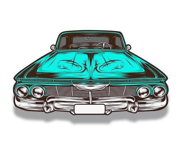 Lowrider car vector