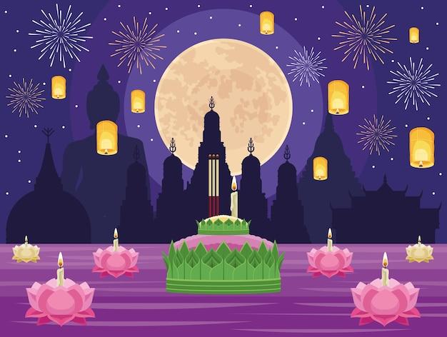 Ночь празднования лой кратонга
