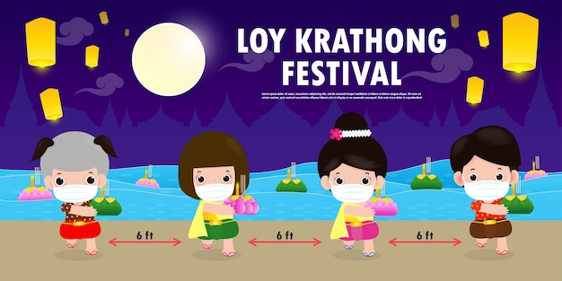 Loy krathong festival for new normal