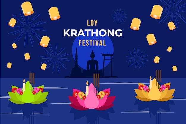 Loy krathong in design piatto