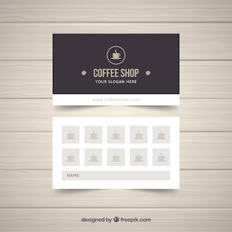 Loyalty card template with abstract concept