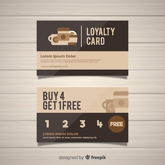 Loyalty card template with abstract design