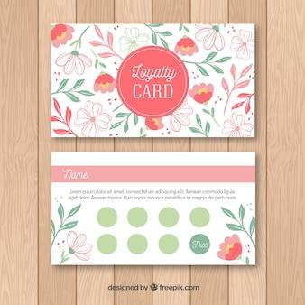 꽃과 함께 충성도 카드 템플릿