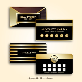 Loyalty cards in golden color