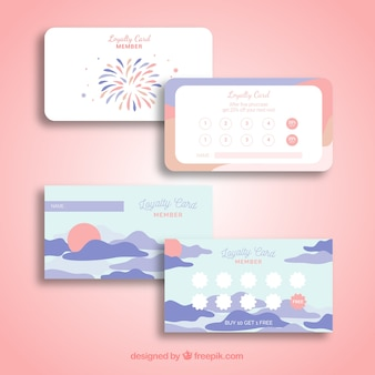 Loyalty cards with colors