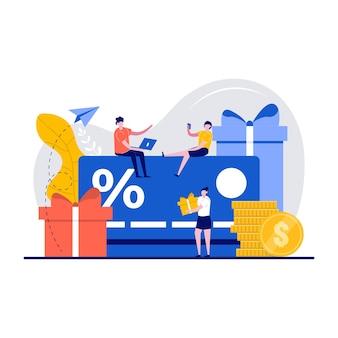 로열티 마케팅 프로그램 및 고객 서비스 개념