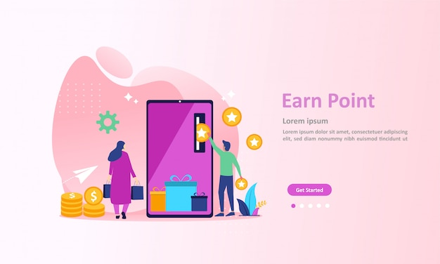 Loyalty program and get rewards landing page