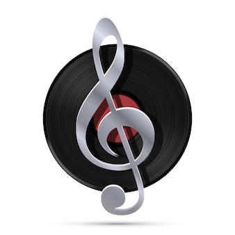 Lp record icon, gramophone music object, vinyl disk record, vector illustration