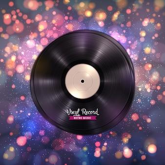 長時間演奏のlpビニールレコード音楽の背景
