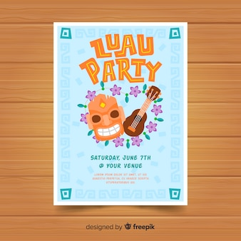 Luau party flyer