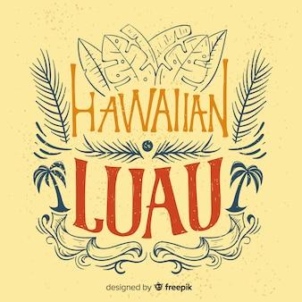 Винтажный гавайский luau фон