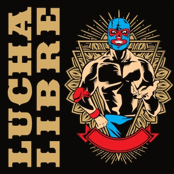 Lucha libre fighterポスター