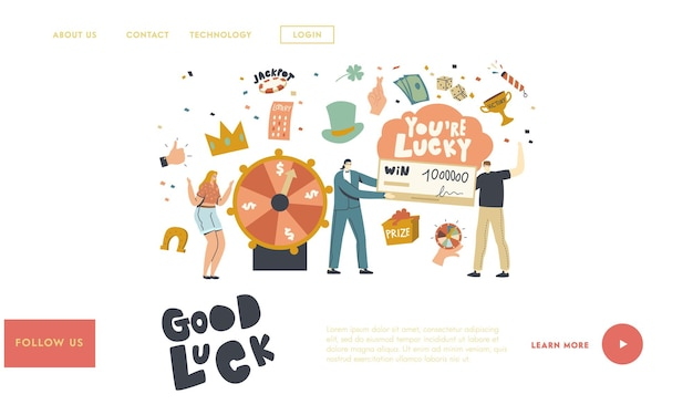 Luck and fortune landing page template