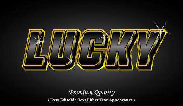 Удачный эффект стиля шрифта 3d