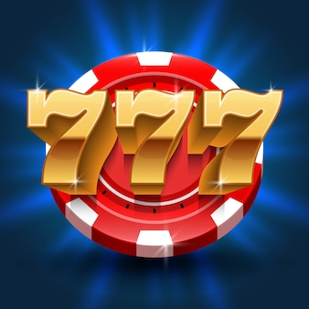 Lucky 777 numbers win slot background. vector gambling and casino concept. lucky in gamble game, gambling jackpot illustration