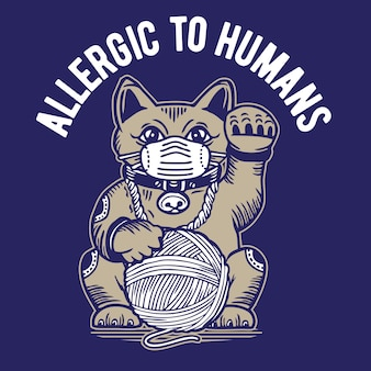 Lucky cat allergic to humans