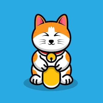 Счастливая кошка иллюстрация