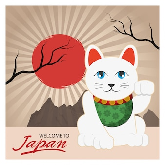 Lucky cat of japan design