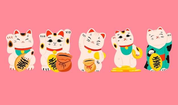Счастливый кот манэки нэко коллекция
