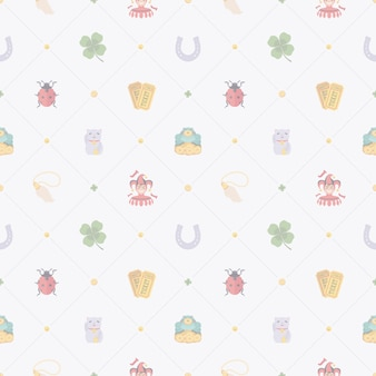 Lucky charms seamless pattern