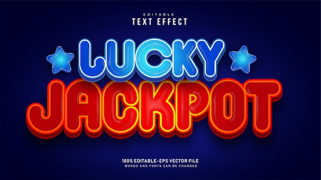Lucky jackpot double text effect
