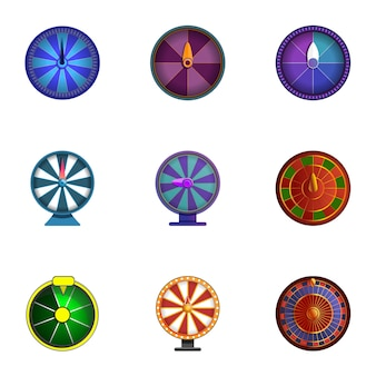 Lucky wheel set, cartoon style