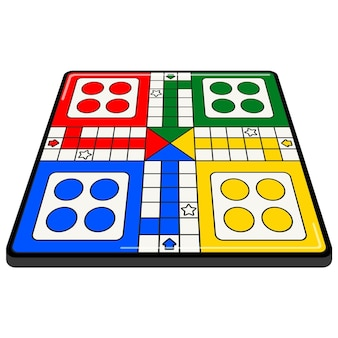 Ludo board game in different perspective