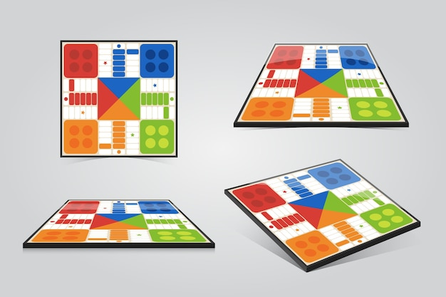 Ludo board game in different perspectives