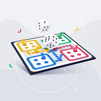Ludo board game in a different perspectives