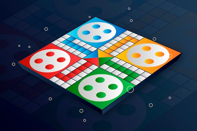 Ludo boardgame in various perspectives