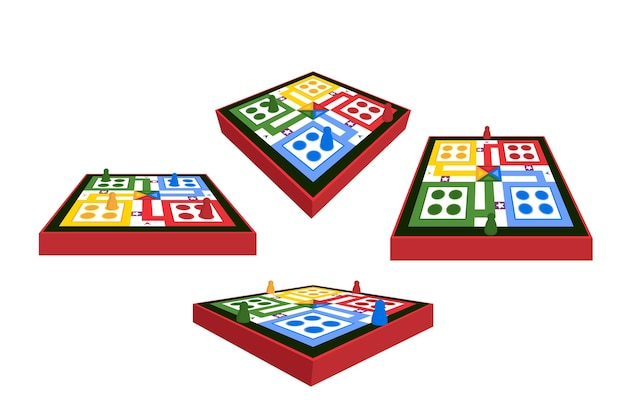 Ludo game from different perspectives
