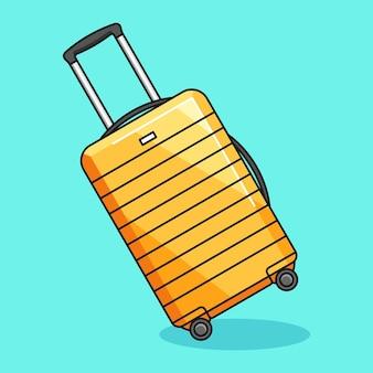 Иллюстрация шаржа багажа