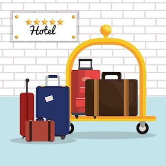 Luggage transport service isolated icon