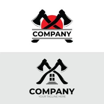 Вдохновение для шаблона дизайна логотипа лесоруба