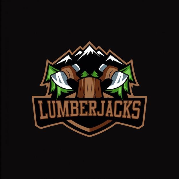 Lumberjack logo sports