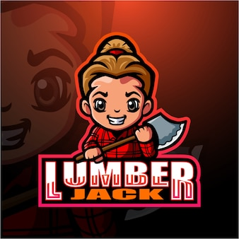 Lumberjack mascot esport illustration