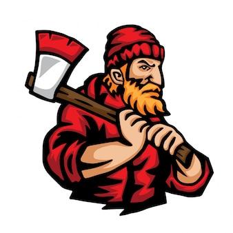 Lumberjack occupation character illustration