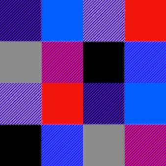 등심 격자 무늬 원활한 패턴 벡터입니다. 여러 가지 빛깔의 사각형 패턴