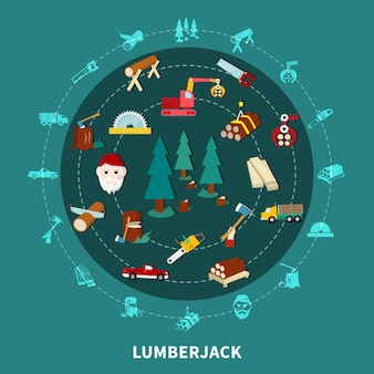 Lumberjack round composition