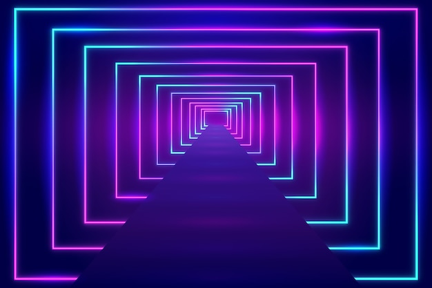 Luminescent neon lights background