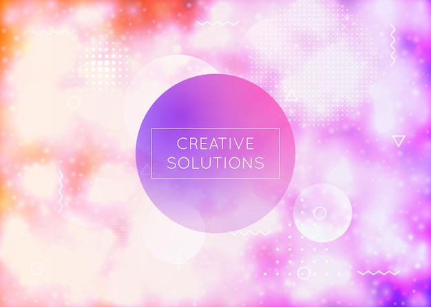 Luminous background with liquid neon shapes. purple fluid. fluorescent cover with bauhaus gradient. graphic template for brochure, banner, wallpaper, mobile screen. shiny luminous background.