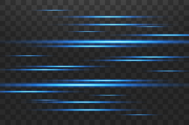 Светящиеся синие абстрактные сверкающие линии