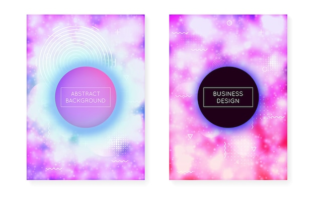 액체 네온 모양의 발광 커버. 보라색 액체. 바우하우스 그라데이션이 있는 형광 배경. 브로셔, 배너, 벽지, 모바일 화면용 그래픽 템플릿입니다. 다채로운 발광 커버.
