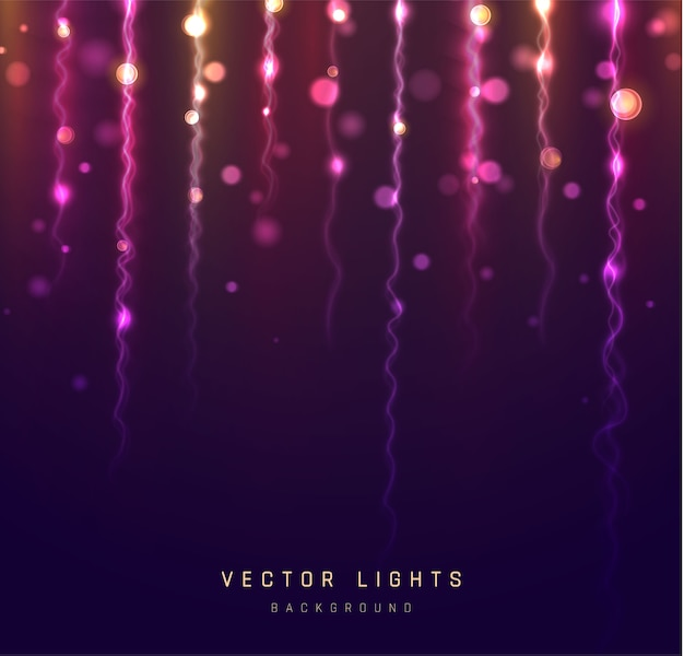 明るい光のボケ効果。きらめく魔法のダスト粒子。