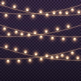 Светящиеся огни на рождественские праздники светящиеся лампочки-гирлянды